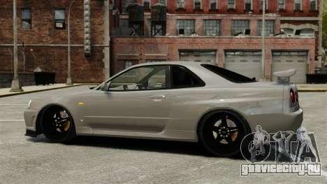Nissan Skyline R34 для GTA 4 вид слева