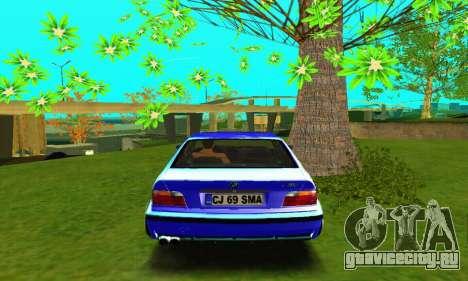 BMW E36 Low and Slow для GTA San Andreas вид справа