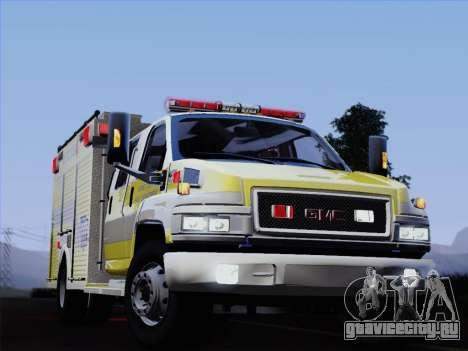 GMC C4500 Topkick BCFD Rescue 4 для GTA San Andreas вид снизу