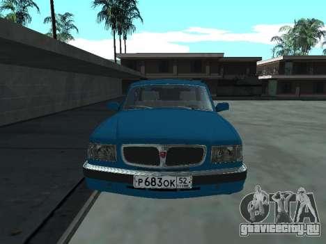 ГАЗ 310221 для GTA San Andreas вид слева