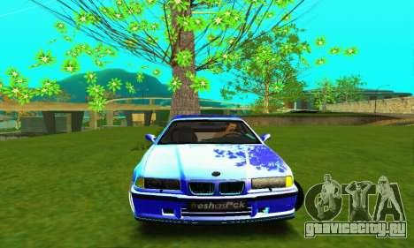 BMW E36 Low and Slow для GTA San Andreas вид изнутри