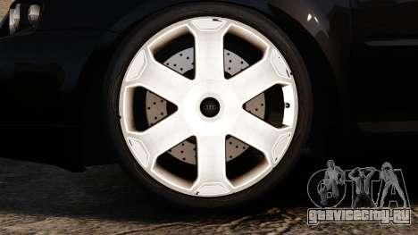 Audi S3 2001 для GTA 4 вид сзади