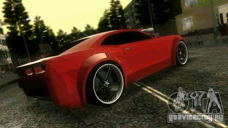 Chevrolet Camaro JR Tuning для GTA Vice City вид сзади слева