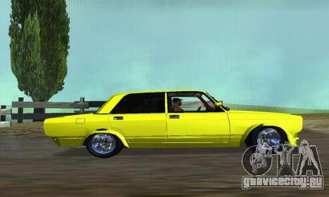 ВАЗ 2107 VIP для GTA San Andreas вид слева