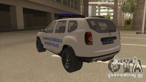 Dacia Duster Granična Policija для GTA San Andreas вид сзади