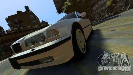 BMW 750iL для GTA 4 вид сзади