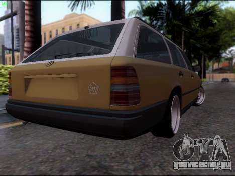 Mercedes-Benz E-Class W124 для GTA San Andreas вид сзади слева