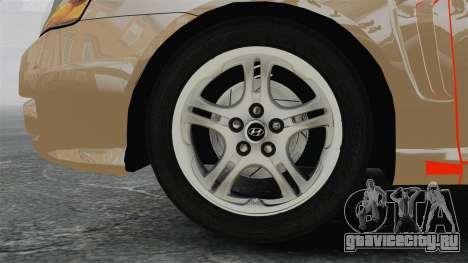 Hyundai Tiburon для GTA 4 вид сзади