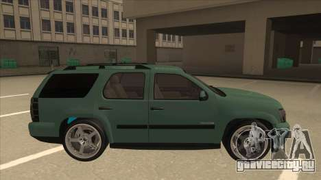 Chevrolet Tahoe Sound Car The Adiccion для GTA San Andreas вид сзади слева