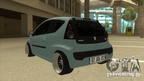 Peugeot 106 EuroLook для GTA San Andreas вид сзади