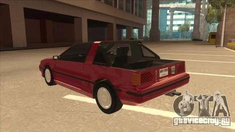 Nissan EXA L.A. Version для GTA San Andreas вид сзади