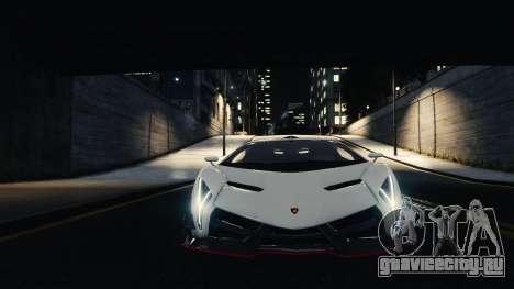 Lamborghini Veneno для GTA 4 вид сзади
