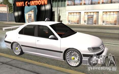 Peugeot 406 Taxi v2 для GTA San Andreas вид сзади
