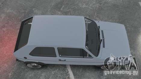 Volkswagen Golf MK1 GTI Update v1 для GTA 4 вид справа