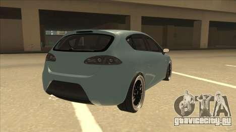 Seat Leon Clean Tuning для GTA San Andreas вид справа