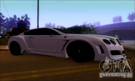 Bentley Continental GT для GTA San Andreas