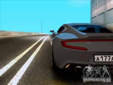 Aston Martin One-77 для GTA San Andreas вид справа