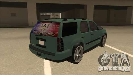 Chevrolet Tahoe Sound Car The Adiccion для GTA San Andreas вид справа