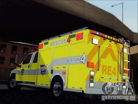 GMC C4500 Topkick BCFD Rescue 4 для GTA San Andreas вид сзади слева