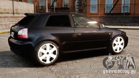 Audi S3 2001 для GTA 4 вид слева