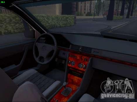 Mercedes-Benz E-Class W124 для GTA San Andreas вид сбоку