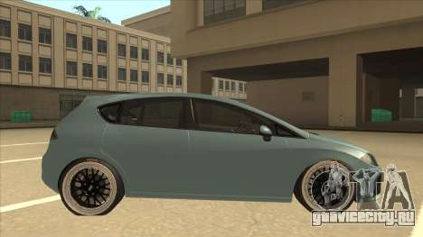 Seat Leon Clean Tuning для GTA San Andreas вид сзади слева