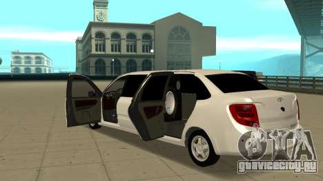 Lada Granta Лимузин для GTA San Andreas вид изнутри