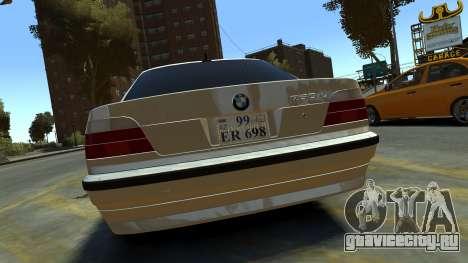 BMW 750iL для GTA 4 вид справа