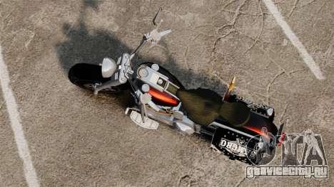 Harley-Davidson для GTA 4 вид сзади слева