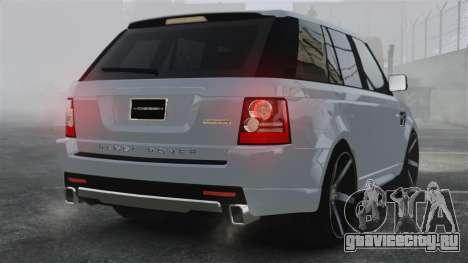 Range Rover Sport Autobiography 2013 Vossen для GTA 4 вид сзади слева
