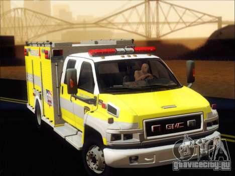 GMC C4500 Topkick BCFD Rescue 4 для GTA San Andreas вид слева