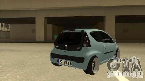 Peugeot 106 EuroLook для GTA San Andreas вид справа