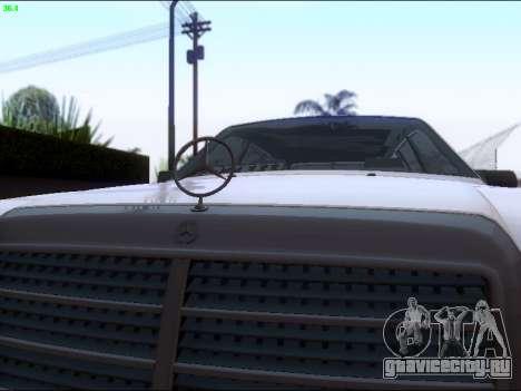 Mercedes-Benz E-Class W124 для GTA San Andreas вид изнутри