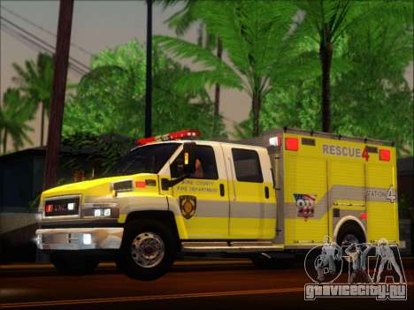 GMC C4500 Topkick BCFD Rescue 4 для GTA San Andreas вид сзади