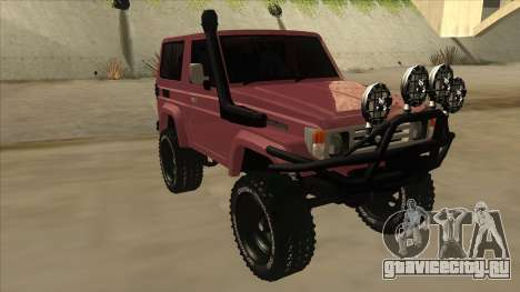 Toyota Machito Fj70 2009 V2 для GTA San Andreas вид слева
