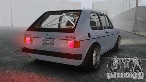 Volkswagen Golf MK1 GTI Update v1 для GTA 4 вид сзади слева