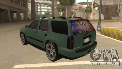 Chevrolet Tahoe Sound Car The Adiccion для GTA San Andreas вид сзади