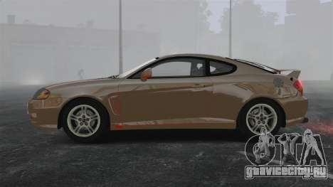 Hyundai Tiburon для GTA 4 вид слева
