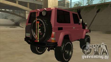 Toyota Machito Fj70 2009 V2 для GTA San Andreas вид справа