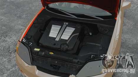 Hyundai Tiburon для GTA 4 вид изнутри