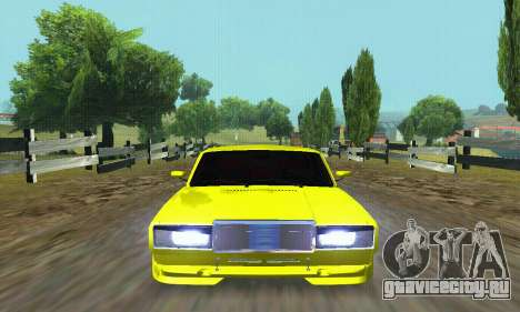 ВАЗ 2107 VIP для GTA San Andreas вид сверху
