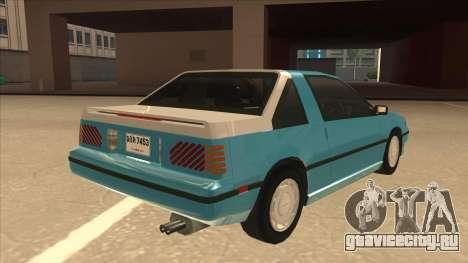 Nissan EXA L.A. Version для GTA San Andreas вид снизу