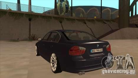 BMW 330 e90 для GTA San Andreas вид сзади