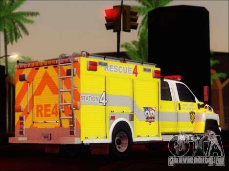 GMC C4500 Topkick BCFD Rescue 4 для GTA San Andreas вид справа