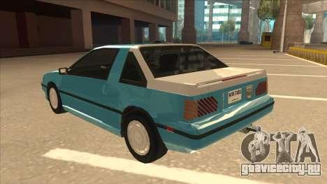 Nissan EXA L.A. Version для GTA San Andreas вид сверху