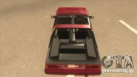 Nissan EXA L.A. Version для GTA San Andreas вид изнутри