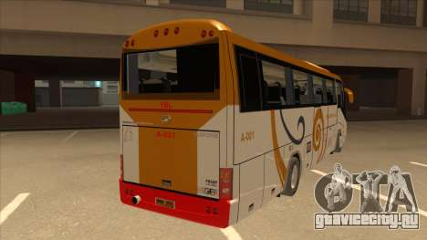 Higer KLQ6129QE - Yellow Bus Line A-001 для GTA San Andreas вид справа