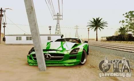 Mercedes SLS AMG 2010 Hamann v2.0 для GTA San Andreas вид сбоку