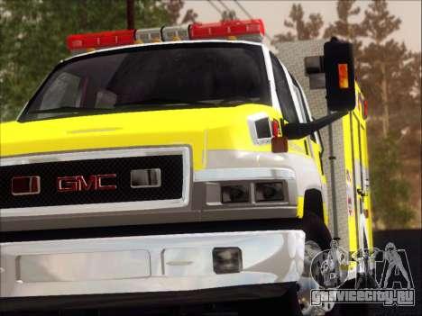 GMC C4500 Topkick BCFD Rescue 4 для GTA San Andreas салон