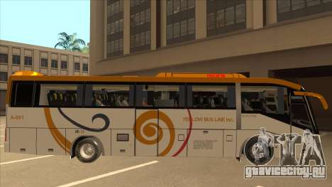 Higer KLQ6129QE - Yellow Bus Line A-001 для GTA San Andreas вид сзади слева
